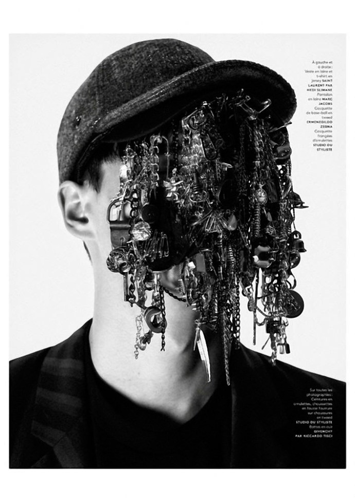 FILIP HRIVNAK PARA  VOGUE HOMMES INTERNATIONAL POR DAVID SIMS 2