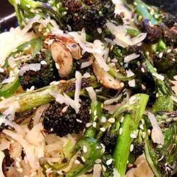 purple sprouted broccoli + capellini
