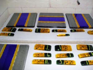 Fused Glass Fire Polish - Before Firing