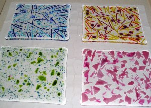 Fused Glass Part Sheets - Before Firing