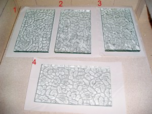 Textured Float Glass Test Pieces