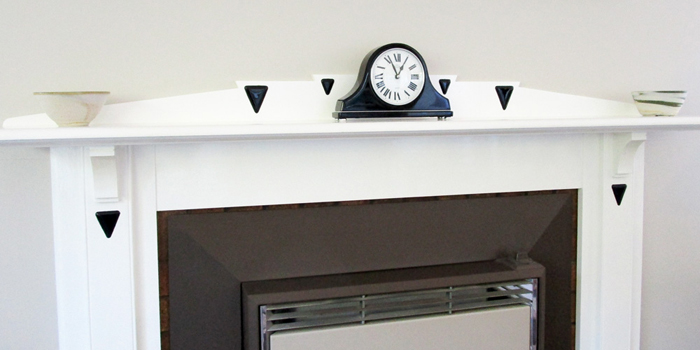 Fused Glass Features for a Fireplace Mantle
