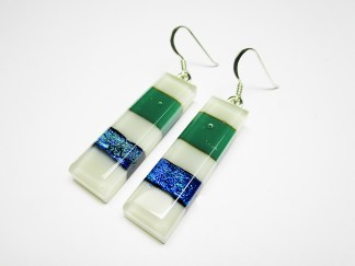 Blue Dichroic Earrings