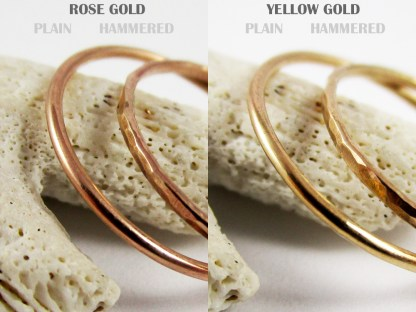 Rose and Yellow Gold Filled Stacker Rings