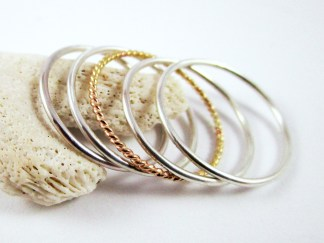 Silver Stacker Ring Set