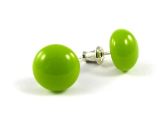 Bright Green Stud Earrings