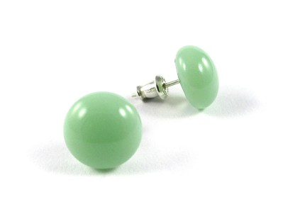 Pastel Green Stud Earrings