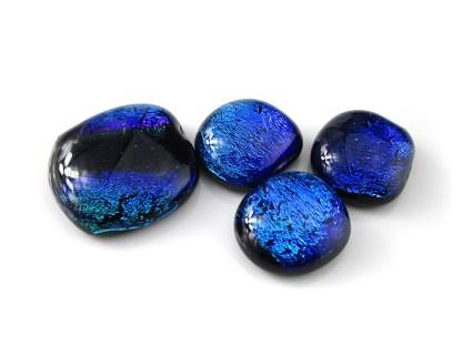 Blue Dichroic Cabochons