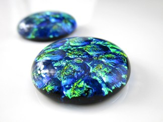 Green Dichroic Cabochons