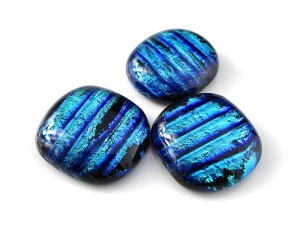 Striped Dichroic Cabochons