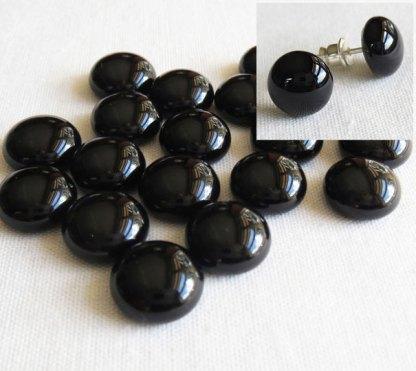 Black Glass Cabochons