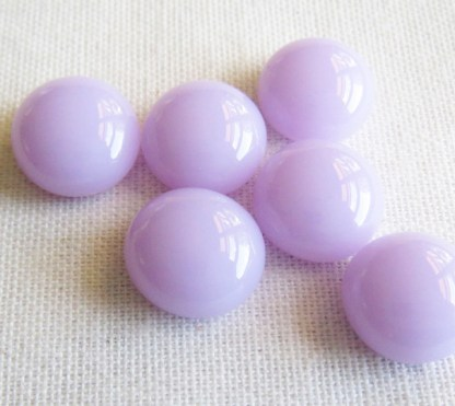 Lavender Glass Cabochons