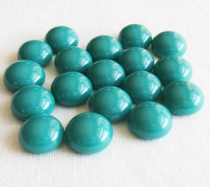 Teal Green Glass Cabochons