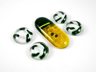 Green Yellow Cabochons