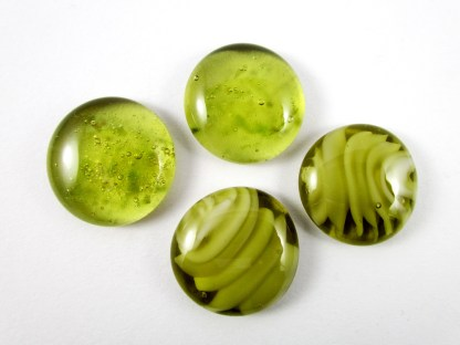 Round Fused Glass Cabochons