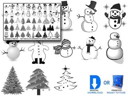 Snowmen Decals