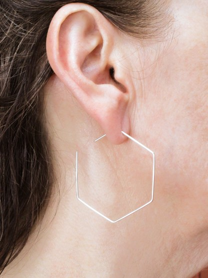 Hexagonal Threader Earrings