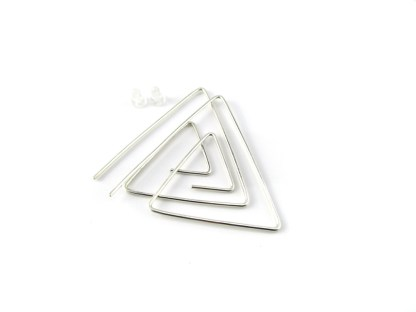 Spiral Triangle Threader Earrings