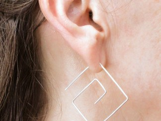 Square Spiral Threader Earrings
