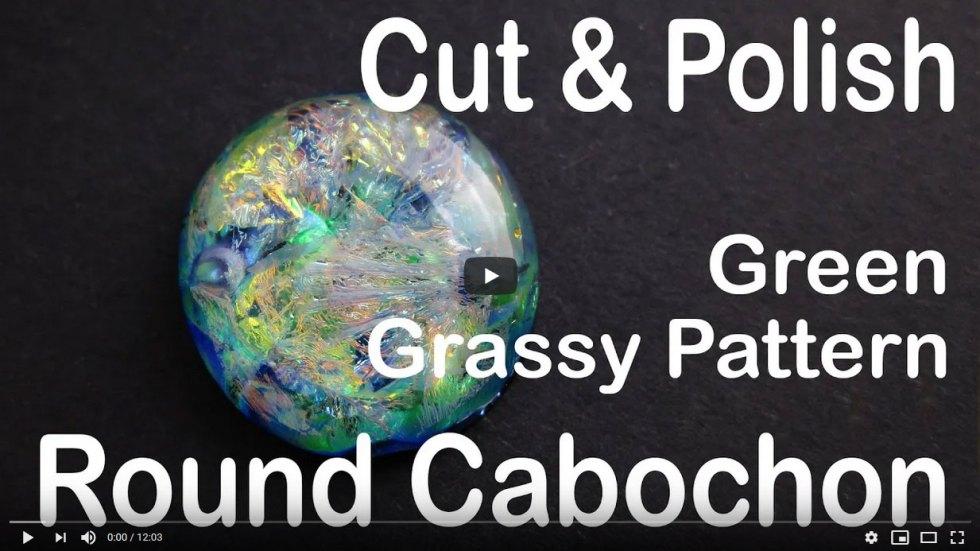 Cutting Round Gold Green Cabochon