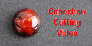 Cutting a Round Cabochon from Red Jefanite™