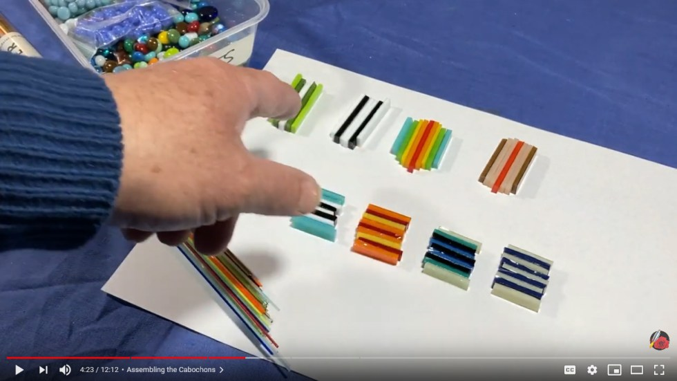 Strip Construction Fused Glass Cabochons
