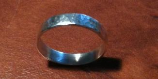 Dippled Sterling Silver Ring