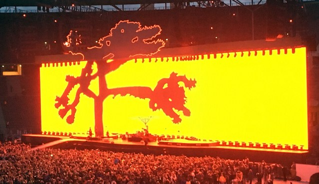 Joshua Tree in orange on video screen
