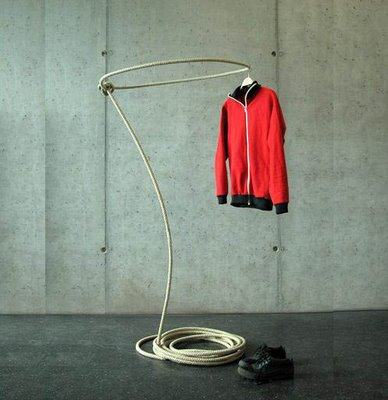 What a fun idea for a coat rack.  I wonder how hard it would be to home-make this guy?