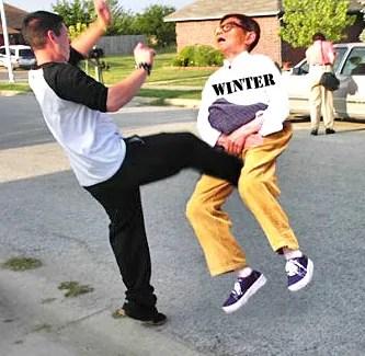kick old man winter
