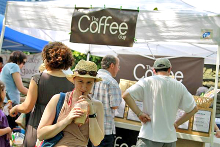 the coffee guy tent