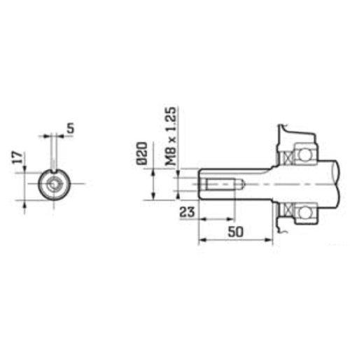 EBERTH 6,5 PS Benzinmotor Ölbadkupplung E-Start Standmotor