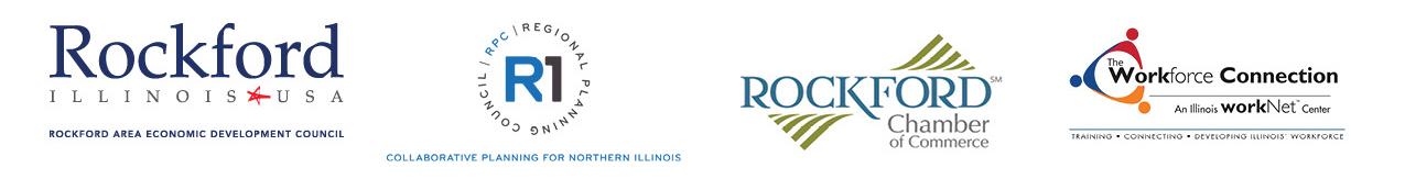 RAEDC, R1, Chamber, Workforce Connection Logos - critical core manufacturing skills Partnership Logos
