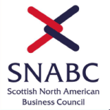 Scottish North American Business Council Logo - Black and Red interlocking arrows with SNABC text beneath