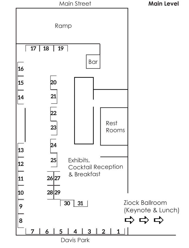 MAC2021 - Exhibitor Floorplan - Embassy Suites Rockford Riverfront