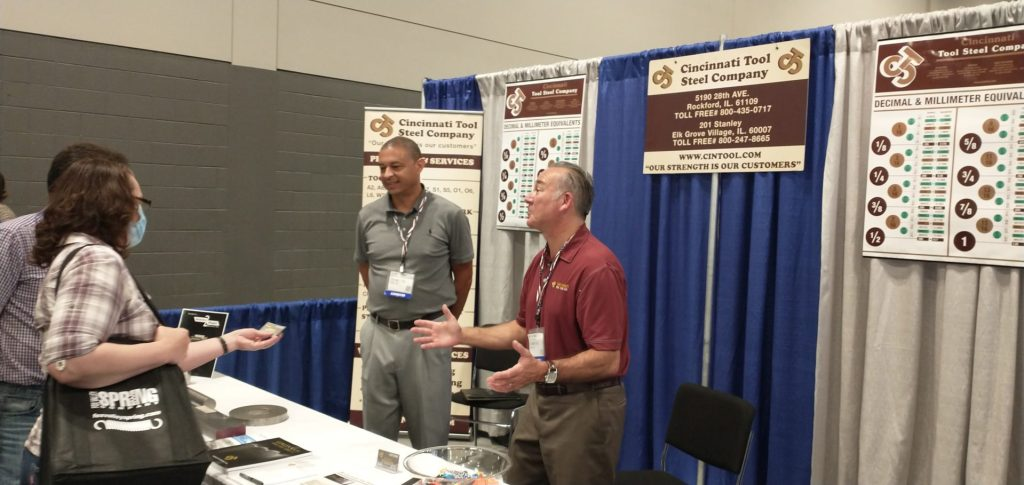 Cinncinatti Tool and Steel Company booth at Design-2-Part trade show