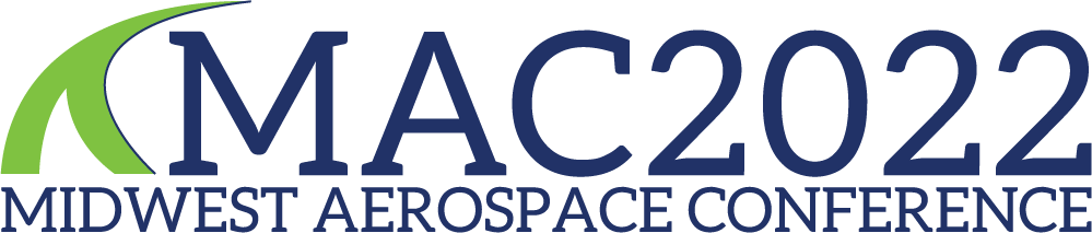 Midwest Aerospace Conference 2022 Logo with a graphic on the left representing contrails