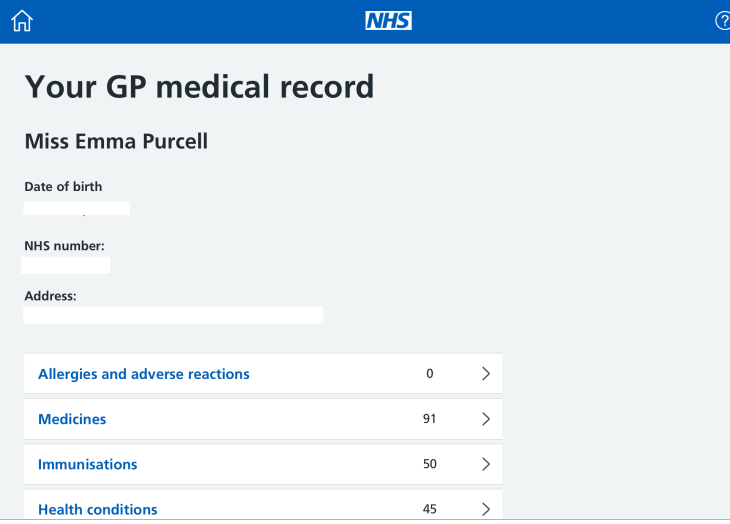 GP medical records
