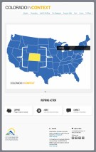 """This website is a microsite for the Denver Metro Chamber of Commerce called """"Colorado in Context""""."""