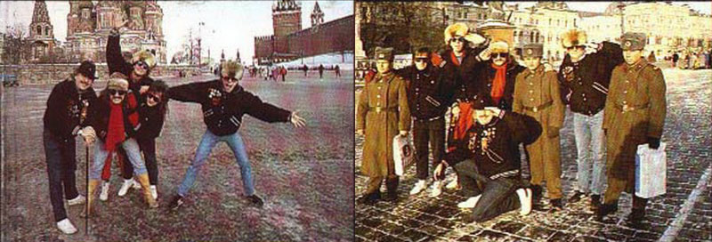 Группа Uriah Heep на улицах Москвы (фото)
