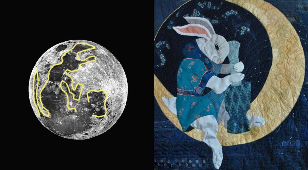 Пятна на Луне в форме зайца (картинка)