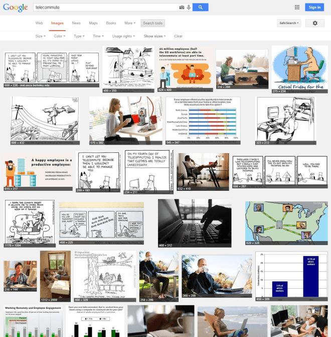 Telecommute Image Search