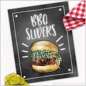 BBQ Slider Sign