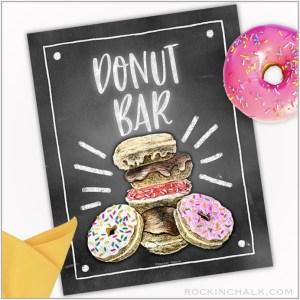 donut bar sign