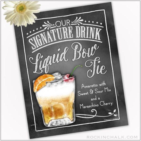 Liquid Bow Tie Amaretto Sour