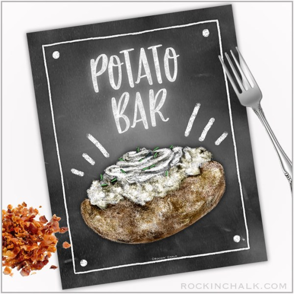 Baked Potato Bar Sign