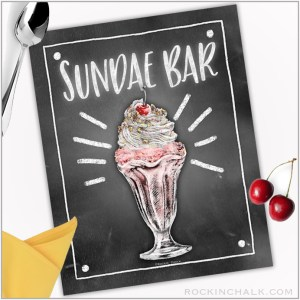 Sundae Bar Sign