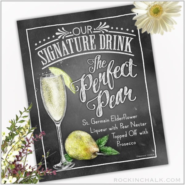 Perfect Pear - Champagne Flute