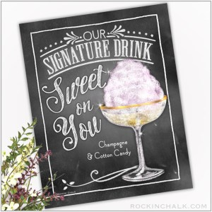 sweet on you champagne and cotton candy cocktail