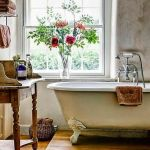 Rustic farmhouse style bathroom design ideas 2